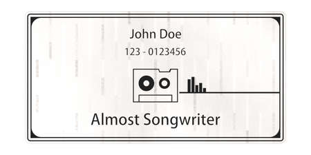 songwriter: John Doe business card isolated on white background