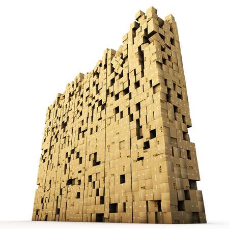 cardboard boxes isolated on white background Stock Photo