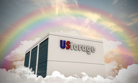 storage units: illustration of storage units in the sky