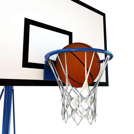 backboard: illustration of a ball that bouncing on a basketball backboard
