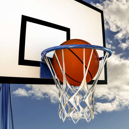 illustration of a ball that bouncing on a basketball backboard illustration