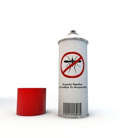 repellent: mosquito repellent spray can isolated on white background