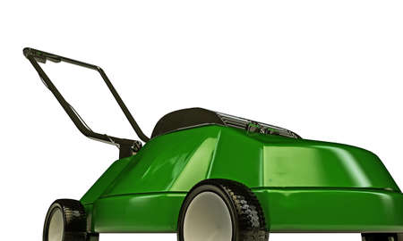 lawnmower: lawnmower isolated on white