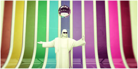 jesus redeemer dancing at the disco photo
