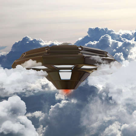 illustration of an unidentified flying object  illustration