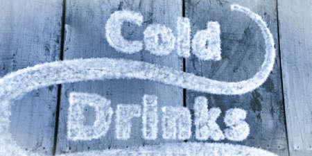 bebidas frias: bebidas fr�as signo Foto de archivo