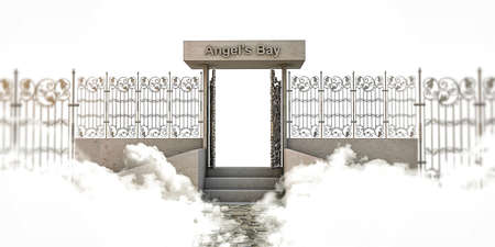 pearly gates: heaven gate isolated on white  Stock Photo
