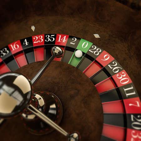 white ball on roulette wheel photo