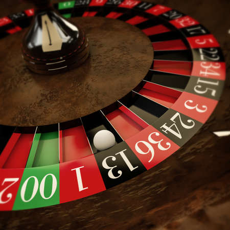 white ball on roulette wheel photo