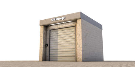 illustration of a self storage unit illustration