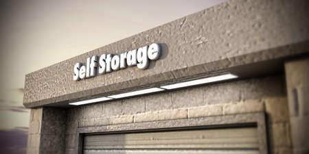 illustratie van een self storage unit Stockfoto