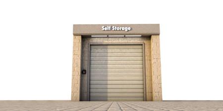 illustration of a self storage unit Stock Photo