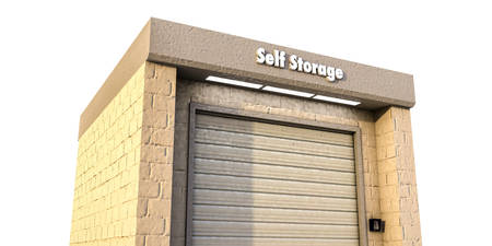 self storage: illustration of a self storage unit Stock Photo