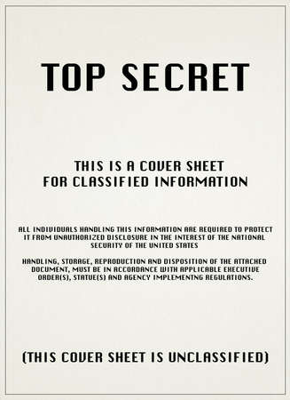 top secret file isolated on white background photo