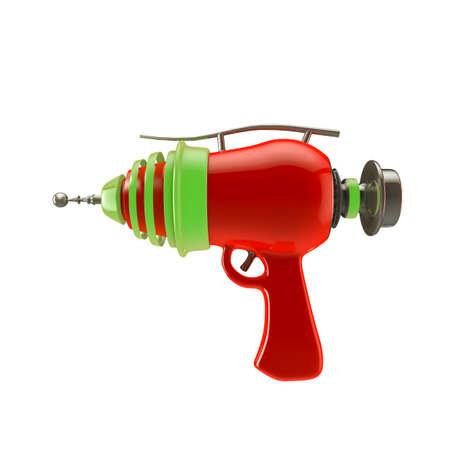 vintage gun: toy gun isolated on white background