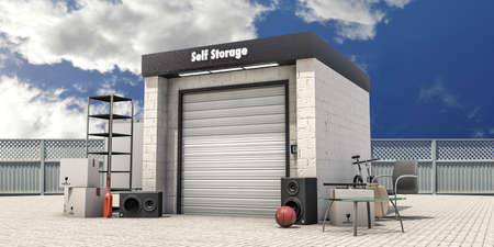storage facility: self storage with used stuff outside