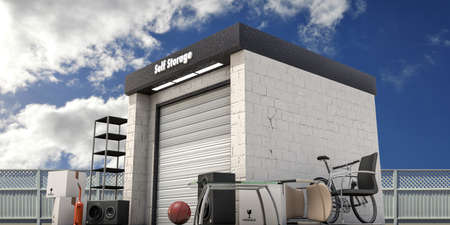 storage unit: self storage with used stuff outside