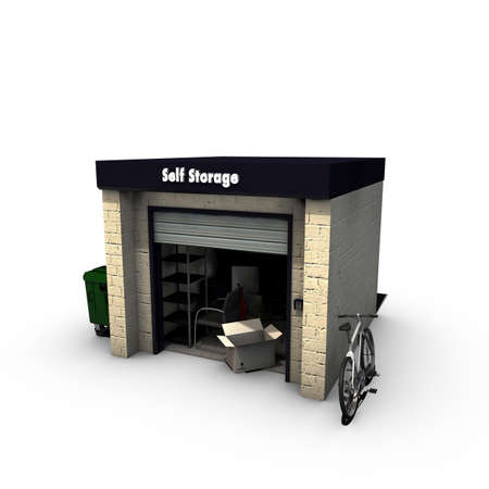 self storage: self storage isolated on white background