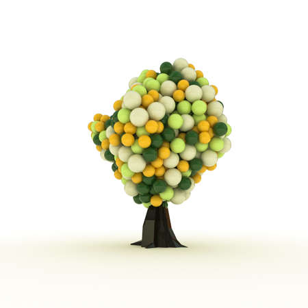 gumball: gumball tree isolated on white background Stock Photo