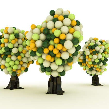 gumball: gumball trees isolated on white background Stock Photo