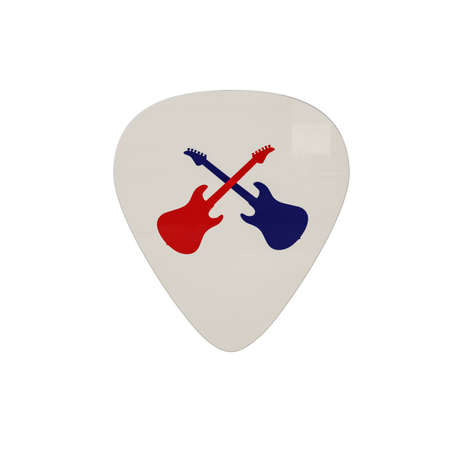 mediator: guitar pick isolated on white background