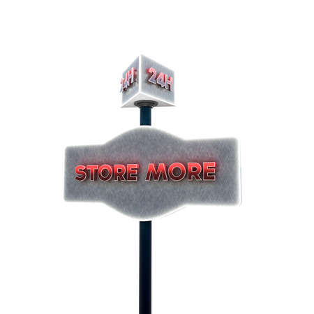 storage facility: self storage sign isolated on white background