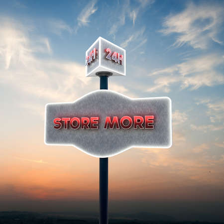 self storage: illustration of a self storage sign