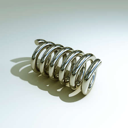 coil springs: metal spring isolated on white background