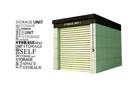 storage unit: self storage isolated on white