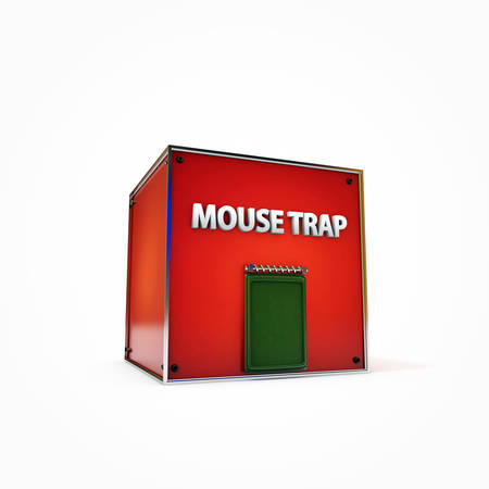 mouse trap: mouse trap isolated on white background