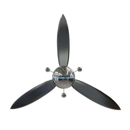 airscrew: modern airscrew isolated on white background Stock Photo