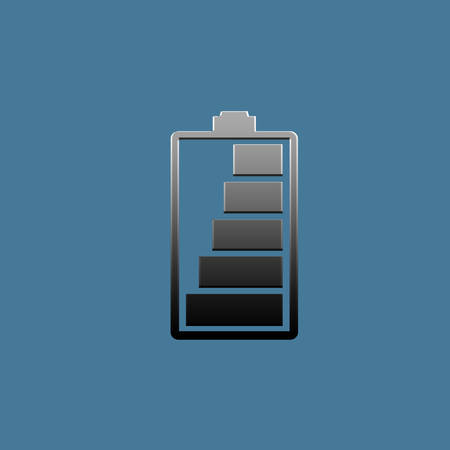 charging battery icon isolated on blue background photo