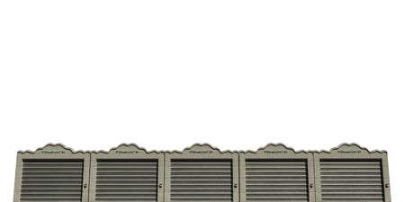 units: self storage concrete units isolated on white background