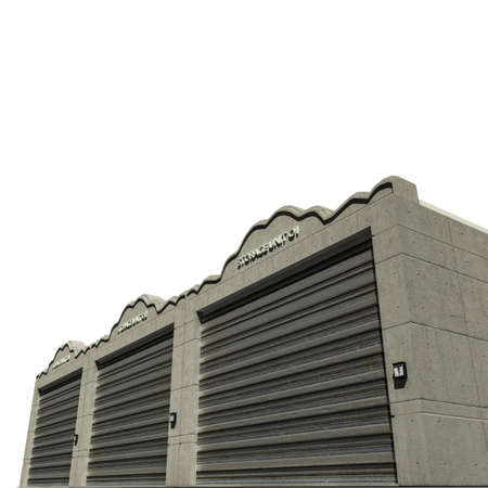 storage facility: self storage concrete units