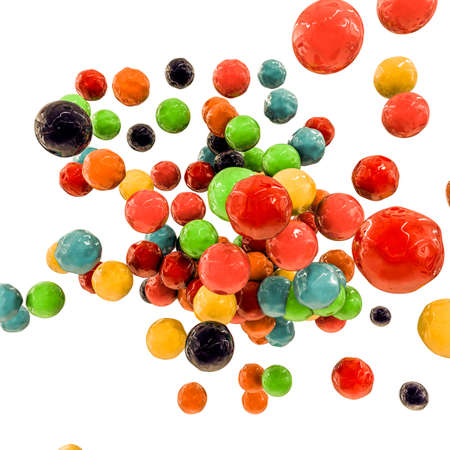fusion: gumballs fusion isolated on white background
