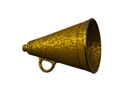 amplify: old megaphone isolated on white background Stock Photo