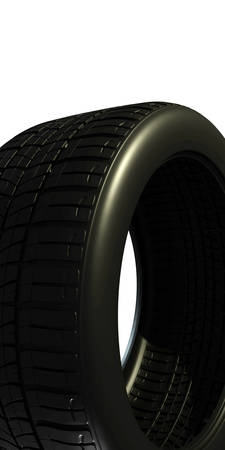 brand new: brand new tire isolated on white background