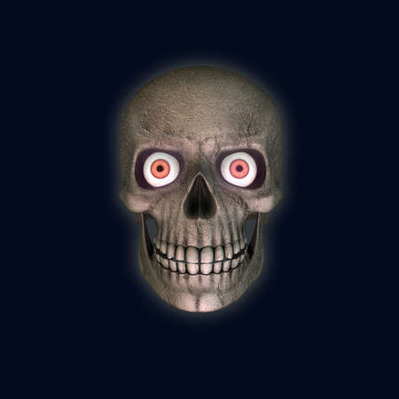 scarry: scarry skull isolated on blue background