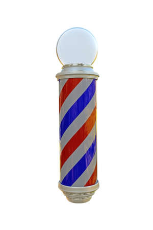 barbershop pole: barber pole isolated on white background