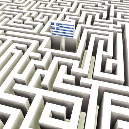 bce: Greek flag in a complex maze