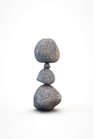 zen stones: zen stones isolated on white background