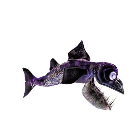 prehistoric fish: prehistoric fish isolated on white background Stock Photo
