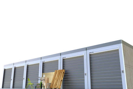 storage units: storage units isolated on white