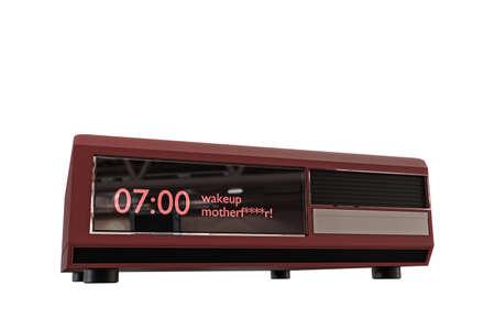 digital clock: digital alarm clock isolated on white background