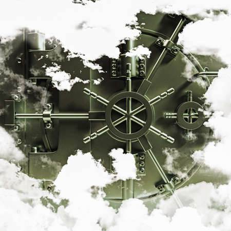 banking and finance: bank vault in the sky Stock Photo