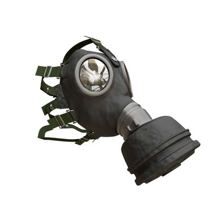 nuclear fear: gas mask isolated on white background