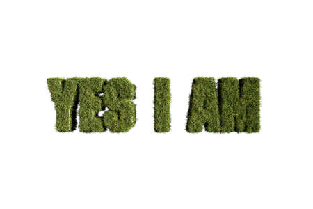 naturopath: word made with grass isolated on white background