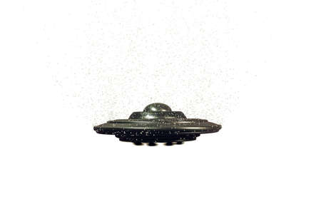 unidentified flying object: unidentified flying object isolated on white background Stock Photo