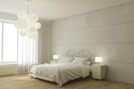 hotel room: Illustration of an hotel room