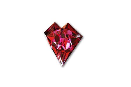 gem: gem heart shaped isolated on white background